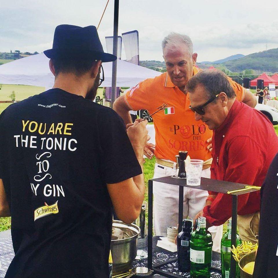 the gin corner at Il Polo del Sorriso